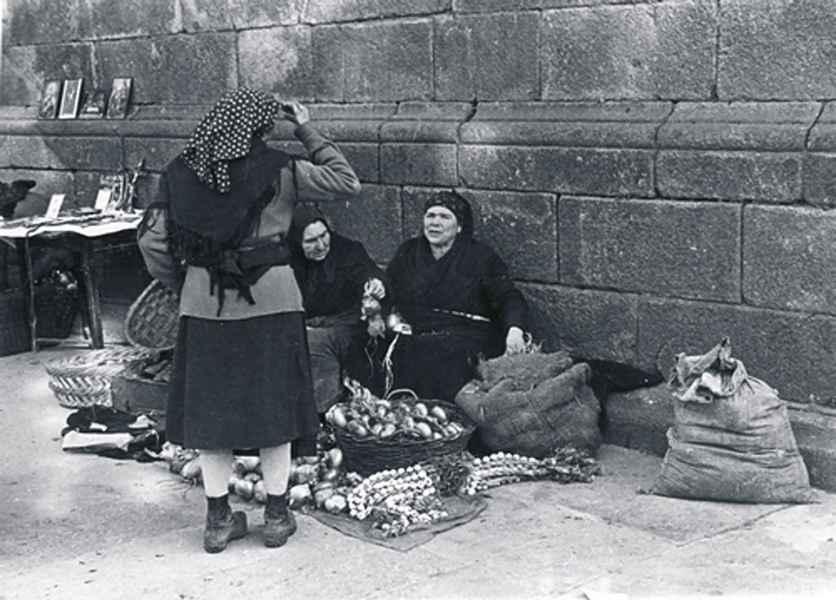 Feiras e mercados. Santiago de Compostela, 1955